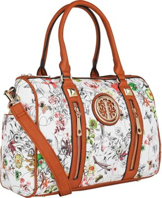 MKF Collection Bloom Floral Print Overnight Satchel Green - MKF Collection Manmade Handbags