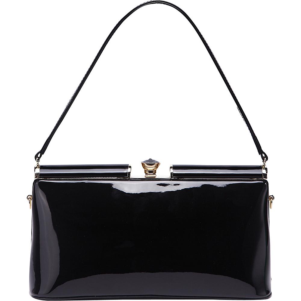 MKF Collection Cynthia Evening Bag Black - MKF Collection Manmade Handbags - Handbags, Manmade Handbags