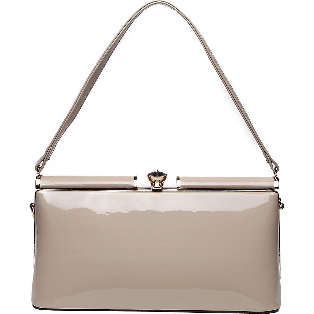 MKF Collection by Mia K. Farrow Cynthia Evening Bag Khaki - MKF Collection by Mia K. Farrow Manmade Handbags - Handbags, Manmade Handbags