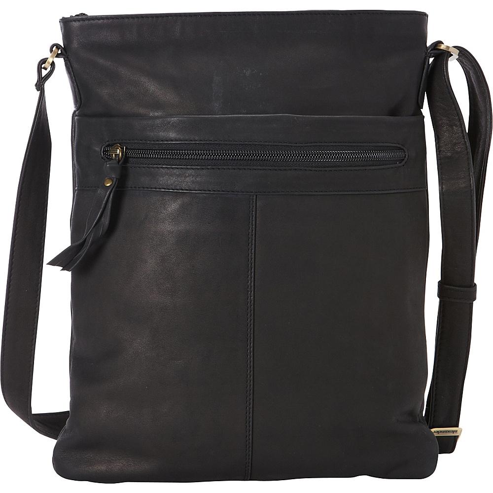 Derek Alexander Slim NS Crossbody Black - Derek Alexander Leather Handbags - Handbags, Leather Handbags