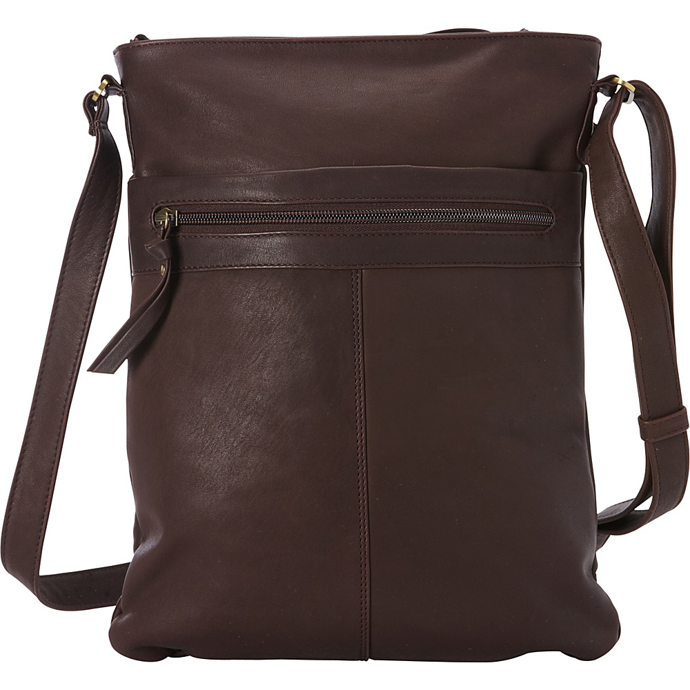Derek Alexander Slim NS Crossbody Brown - Derek Alexander Leather Handbags - Handbags, Leather Handbags