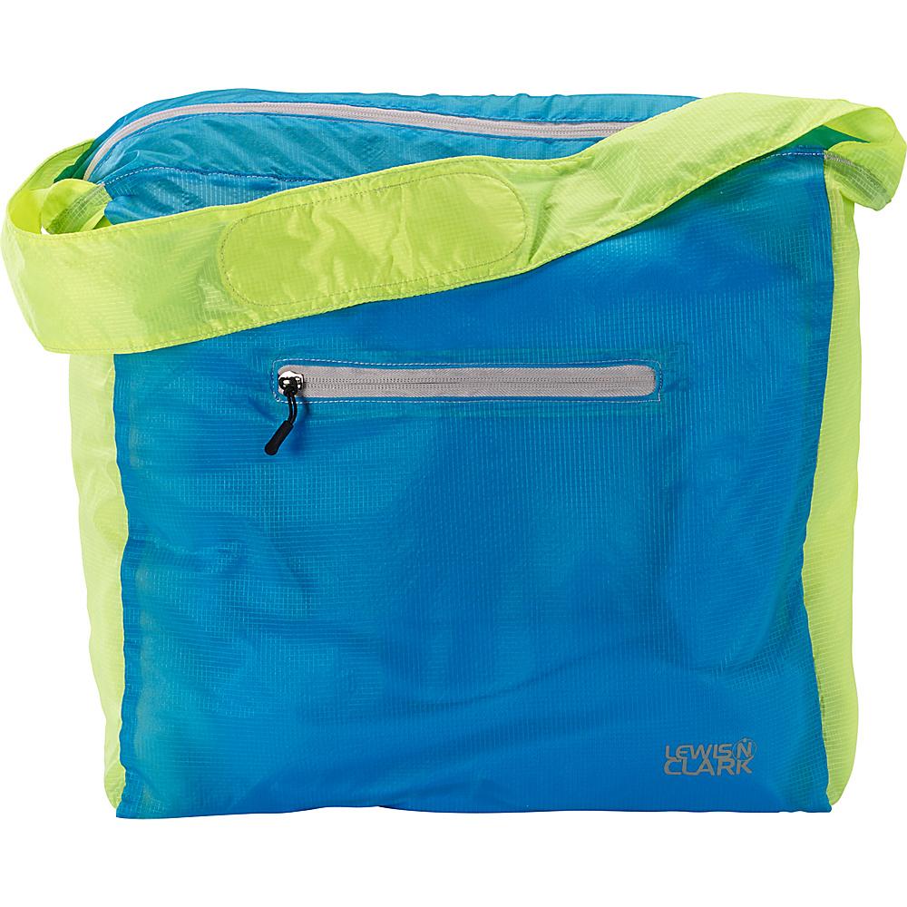 Lewis N. Clark ElectroLight Tote Bag Neon Bright Blue Lewis N. Clark Packable Bags