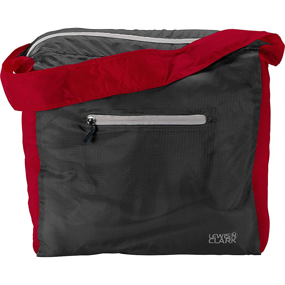 Lewis N. Clark ElectroLight Tote Bag Red Charcoal Lewis N. Clark Packable Bags