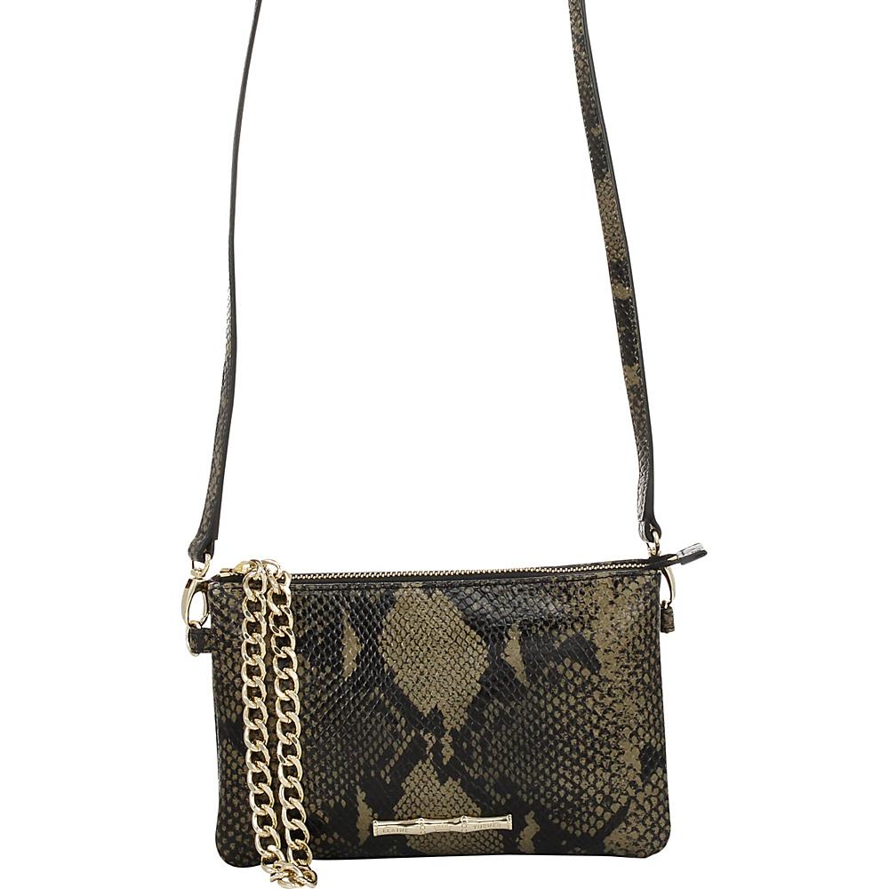 Elaine Turner Frankie Python Crossbody Golden Moss Python Elaine Turner Designer Handbags