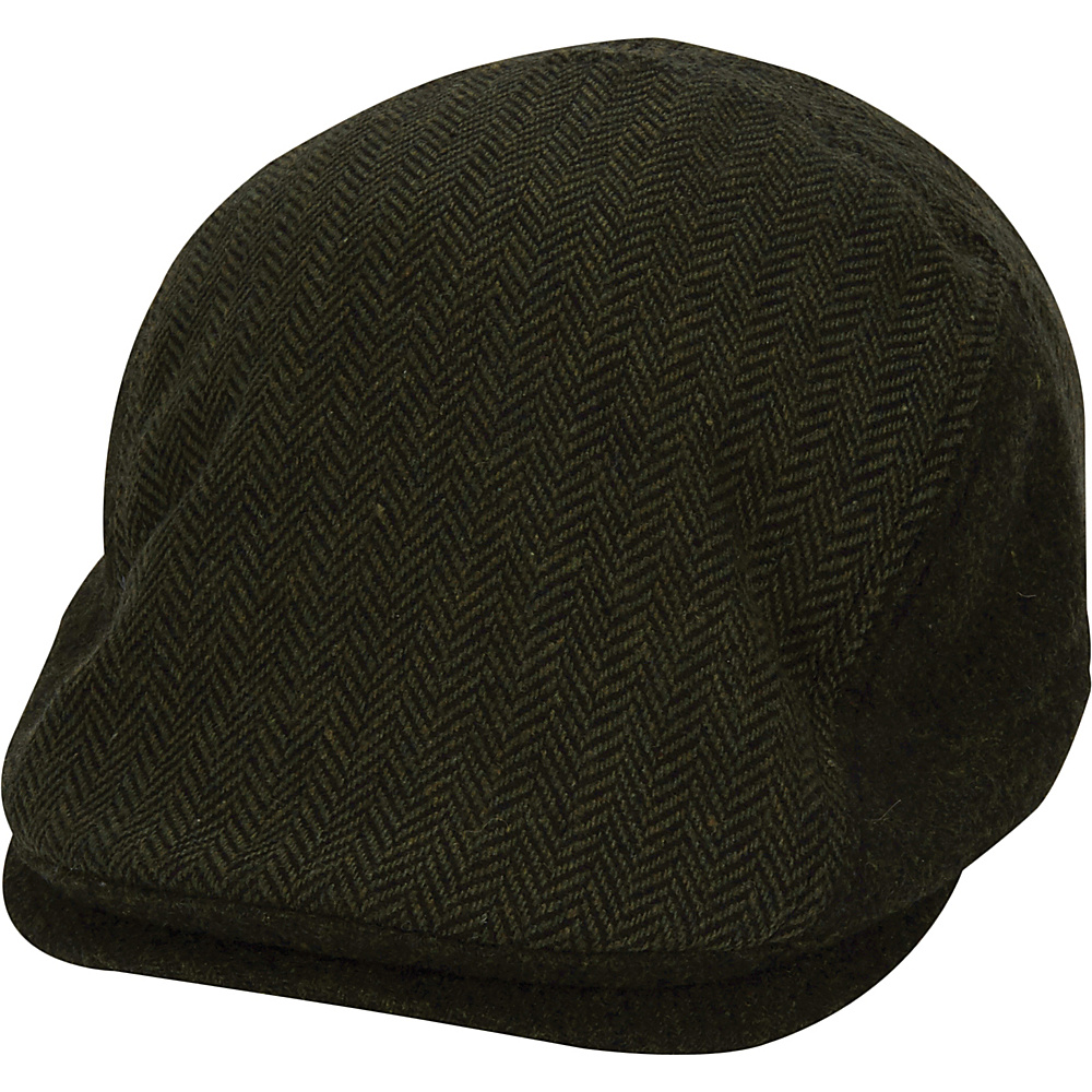Original Penguin Woolen Herringbone Driving Cap One Size - Dusty Olive - Original Penguin Hats/Gloves/Scarves