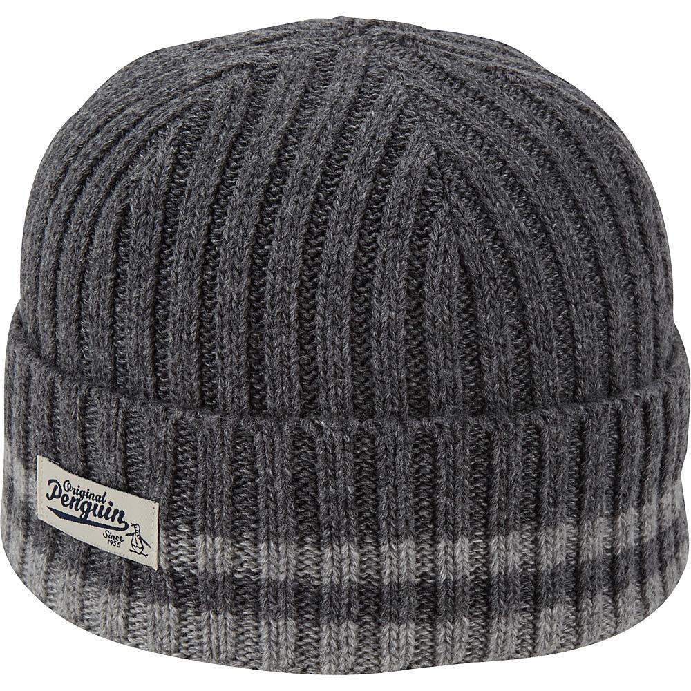 Original Penguin Chunky Knit Watchcap One Size - Dark Shadow - Original Penguin Hats/Gloves/Scarves