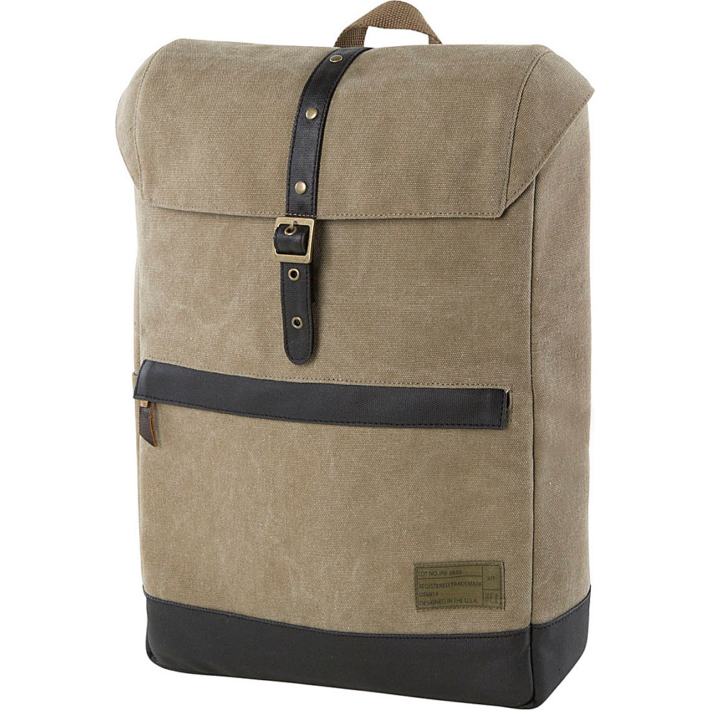HEX Alliance Canvas Backpack Infinity Khaki HEX Business Laptop Backpacks