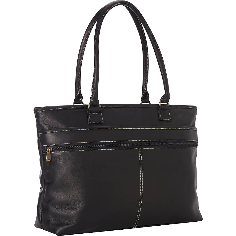 Le Donne Leather Fauna Executive Tote Black - Le Donne Leather Womens Business Bags - Work Bags & Briefcases, Women's Business Bags