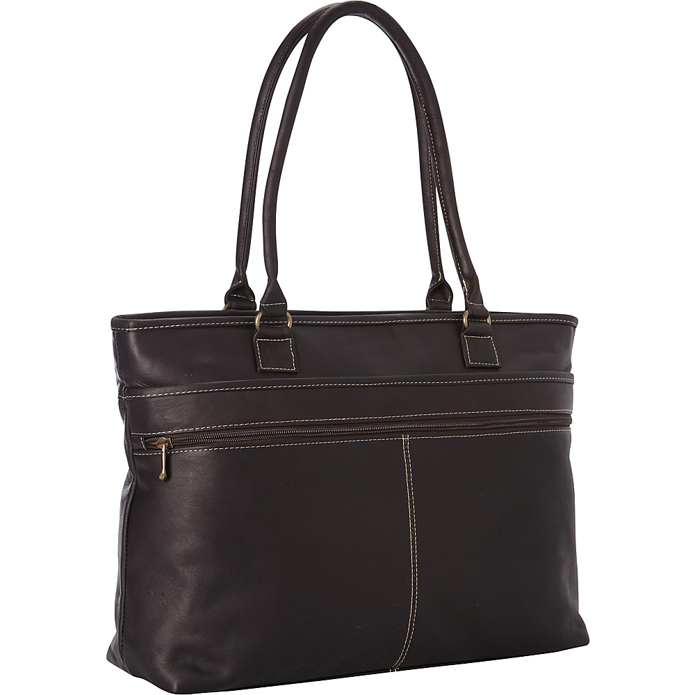 Le Donne Leather Fauna Executive Tote Cafe - Le Donne Leather Womens Business Bags - Work Bags & Briefcases, Women's Business Bags