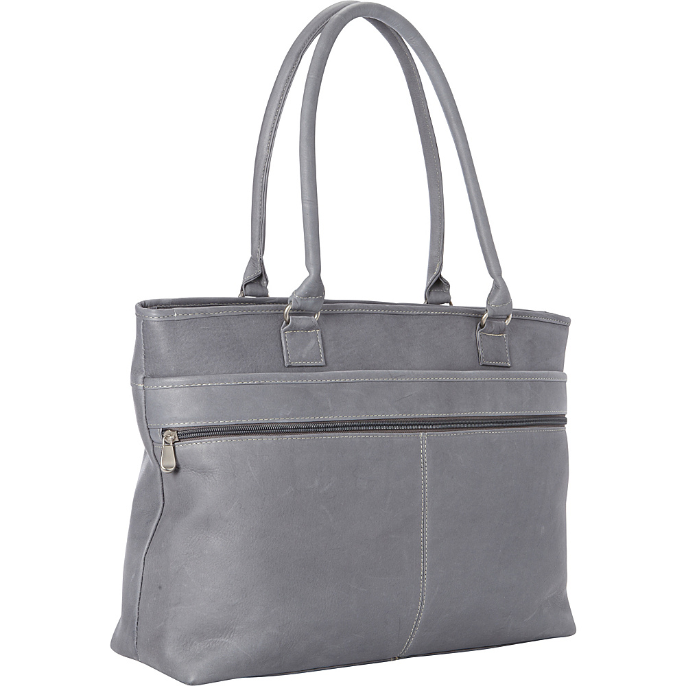 Le Donne Leather Fauna Executive Tote Gray - Le Donne Leather Womens Business Bags - Work Bags & Briefcases, Women's Business Bags