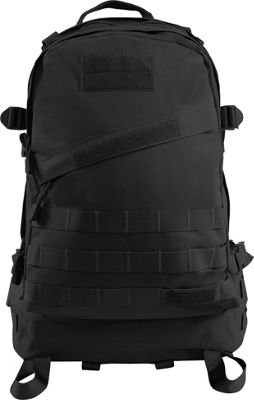 Highland Tactical Stealth Heavy Duty Large Tactical Backpack Black - Highland Tactical Everyday Backpacks