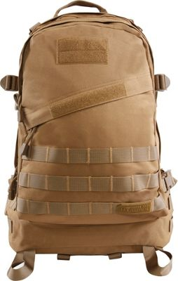 Highland Tactical Stealth Heavy Duty Large Tactical Backpack Tan - Highland Tactical Everyday Backpacks