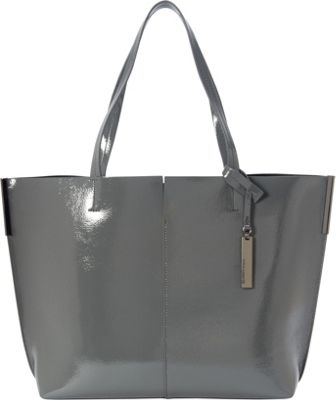 Vince Camuto Wylie Tote DarkGrey/Black - Vince Camuto Designer Handbags
