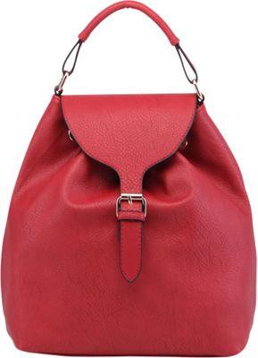 MKF Collection by Mia K. Farrow Romey Back to School Backpack Red - MKF Collection by Mia K. Farrow Manmade Handbags