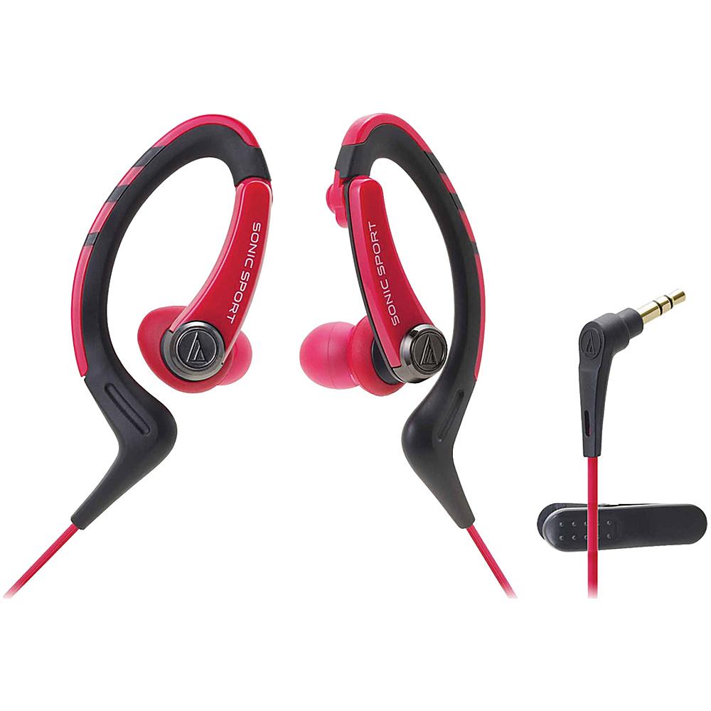 Audio Technica ATH SPORT1NY SonicSport In ear Headphones Red Audio Technica Headphones Speakers