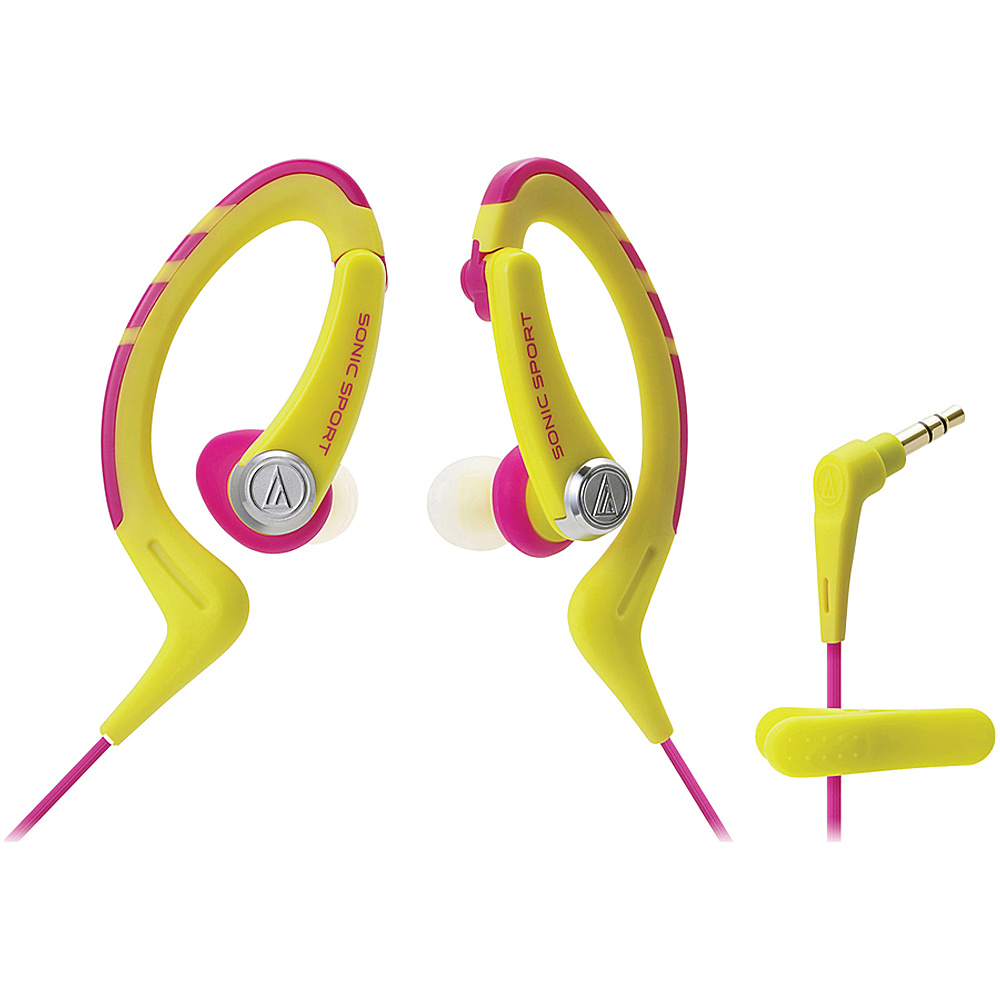 Audio Technica ATH SPORT1NY SonicSport In ear Headphones Yellow Audio Technica Headphones Speakers