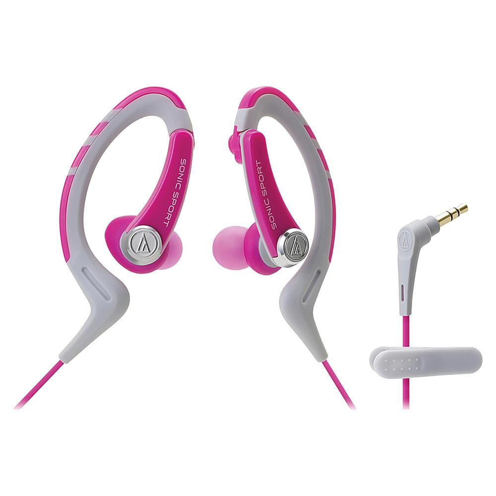 Audio Technica ATH SPORT1NY SonicSport In ear Headphones Pink Audio Technica Headphones Speakers