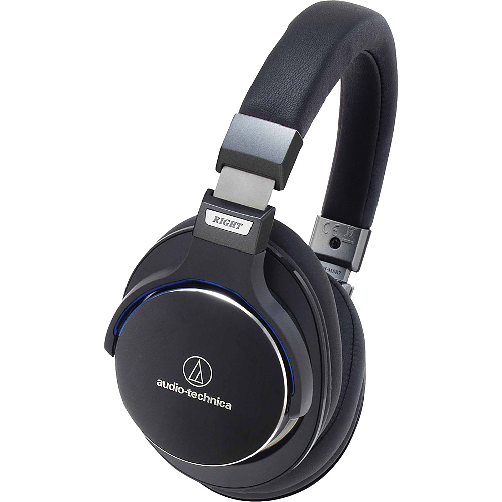 Audio Technica SonicPro Over Ear High Resolution Audio Headphones with In Line Controls and Mic Black Audio Technica Headphones Speakers