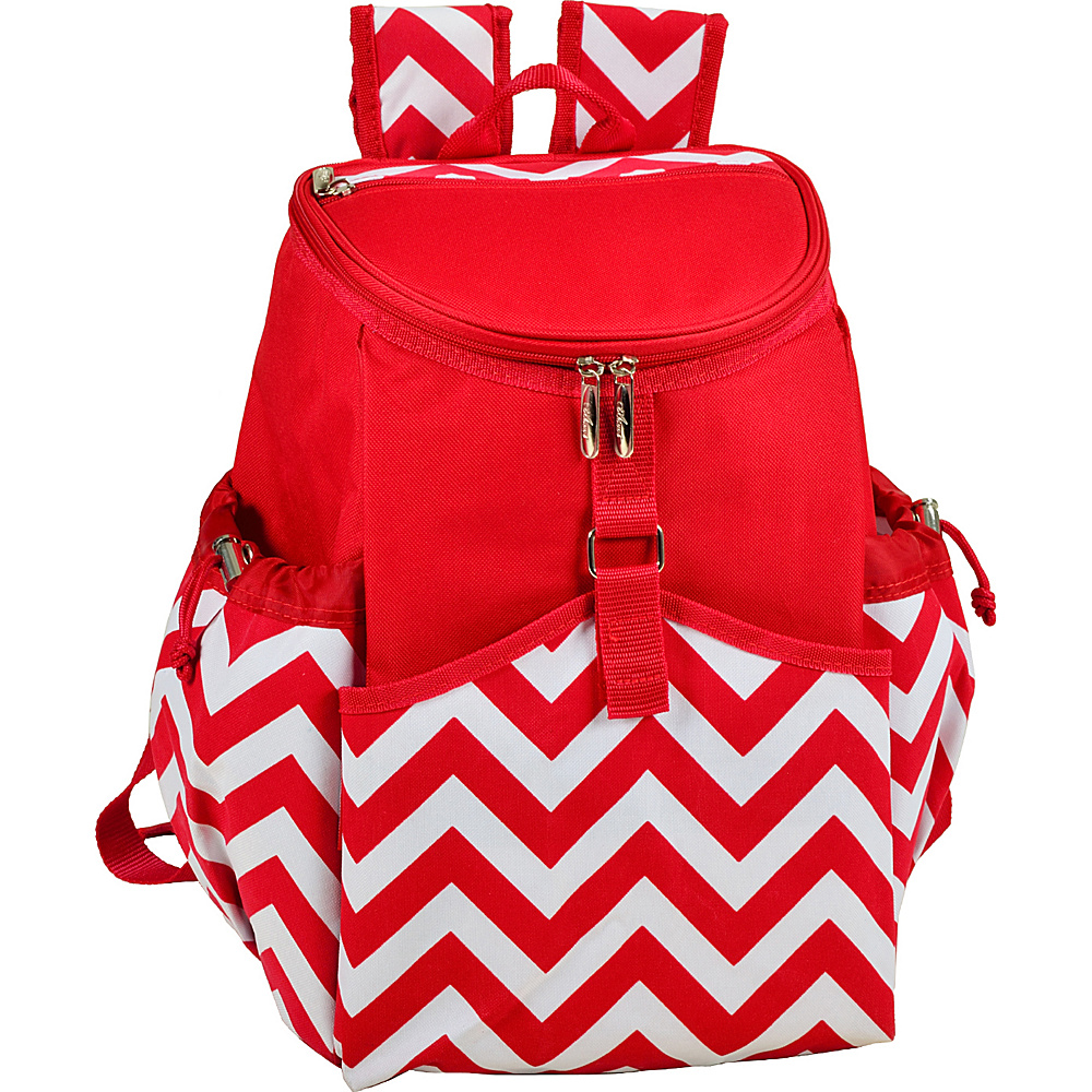 Picnic at Ascot Insulated Backpack Cooler Red Chevron - Picnic at Ascot Outdoor Coolers - Outdoor, Outdoor Coolers