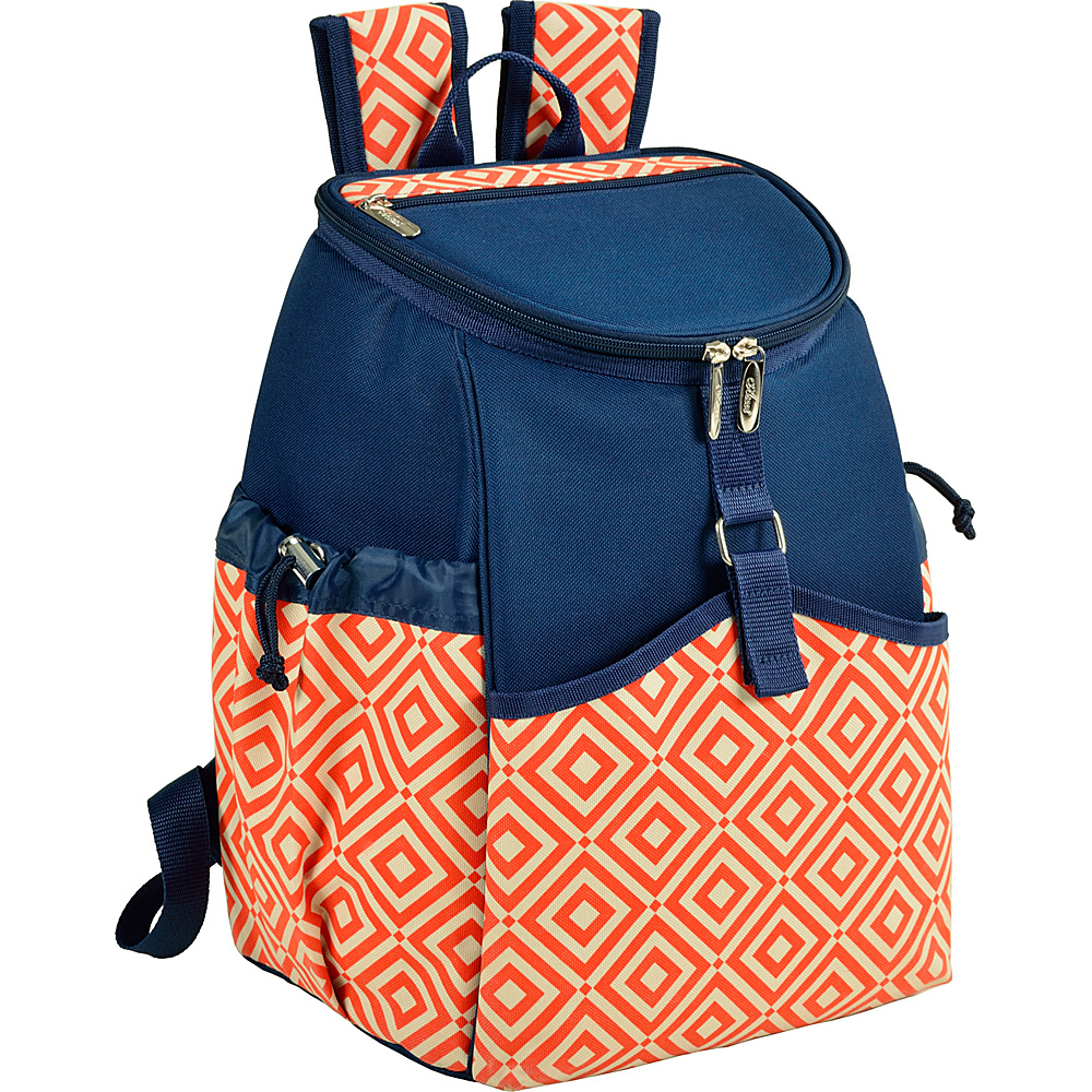 Picnic at Ascot Insulated Backpack Cooler Orange/Navy - Picnic at Ascot Outdoor Coolers - Outdoor, Outdoor Coolers