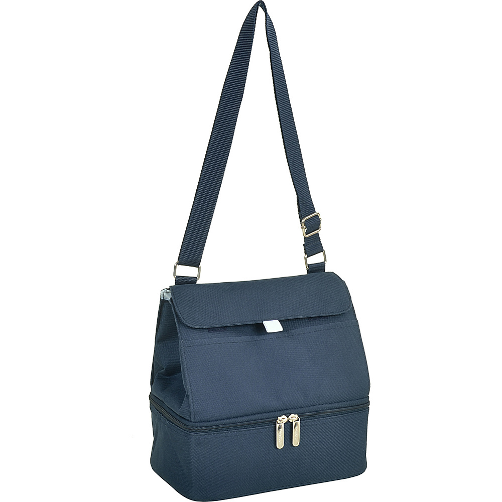 Picnic at Ascot Fashion Insulated Lunch Bag -Two Section w/Shoulder Strap Navy - Picnic at Ascot Travel Coolers - Travel Accessories, Travel Coolers