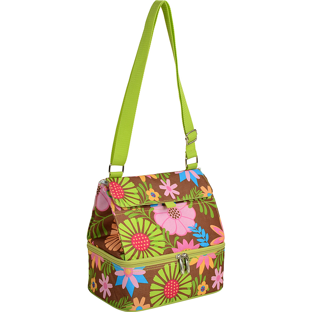 Picnic at Ascot Fashion Insulated Lunch Bag -Two Section w/Shoulder Strap Floral - Picnic at Ascot Travel Coolers - Travel Accessories, Travel Coolers