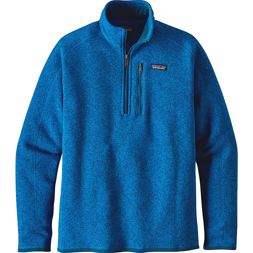Patagonia Mens Better Sweater 1/4 Zip XL - Andes Blue - Patagonia Mens Apparel - Apparel & Footwear, Men's Apparel