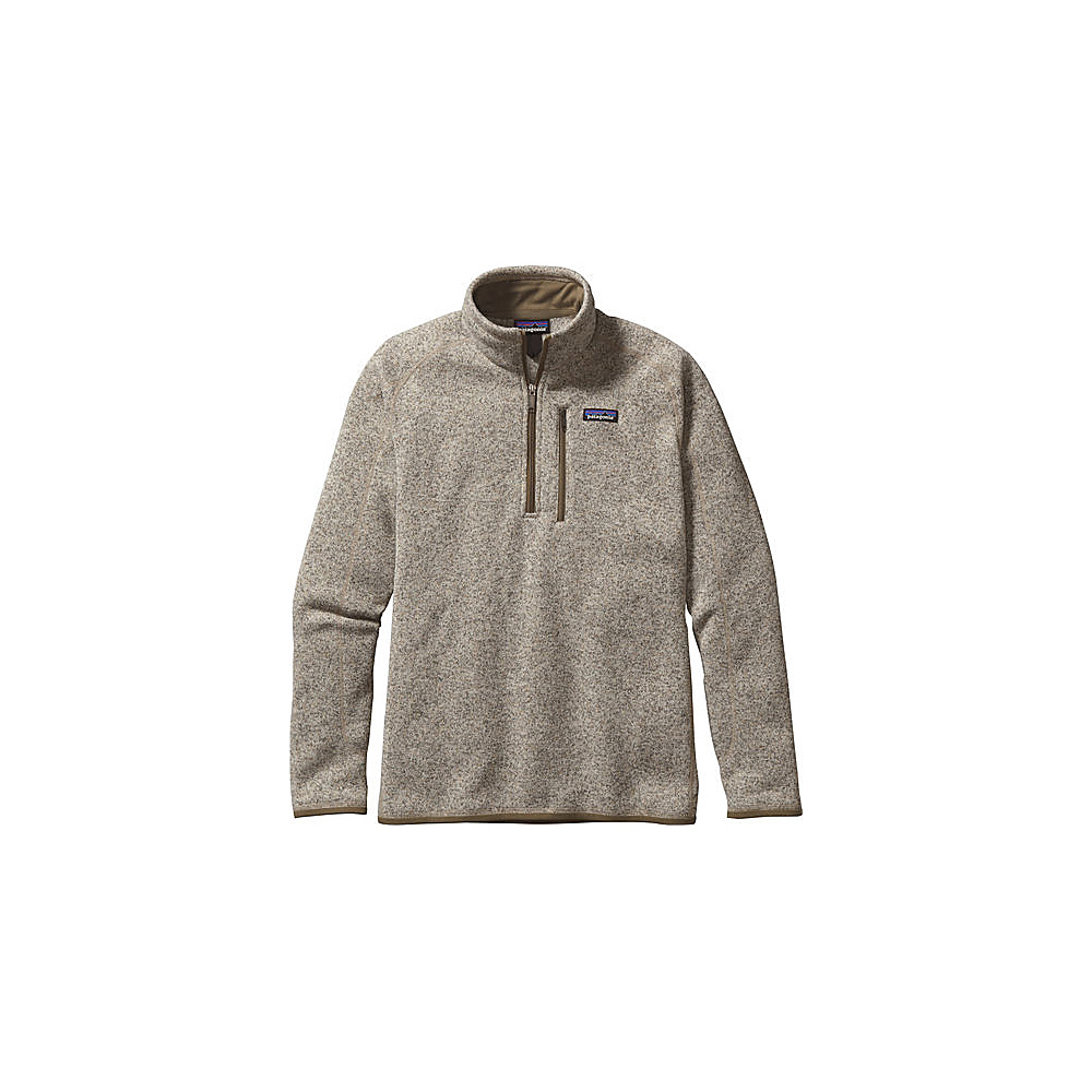 Patagonia Mens Better Sweater 1/4 Zip 2XL - Bleached Stone - Patagonia Mens Apparel - Apparel & Footwear, Men's Apparel
