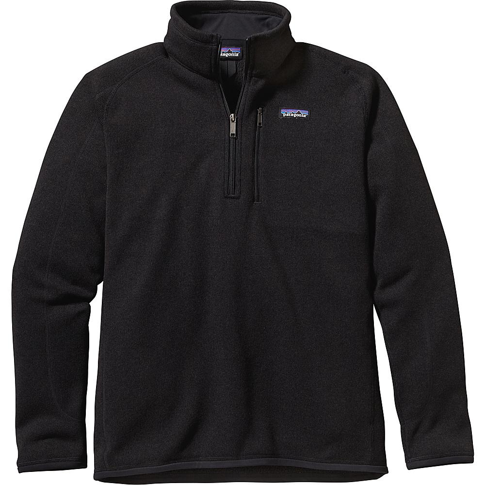 Patagonia Mens Better Sweater 1/4 Zip S - Black - Patagonia Mens Apparel - Apparel & Footwear, Men's Apparel