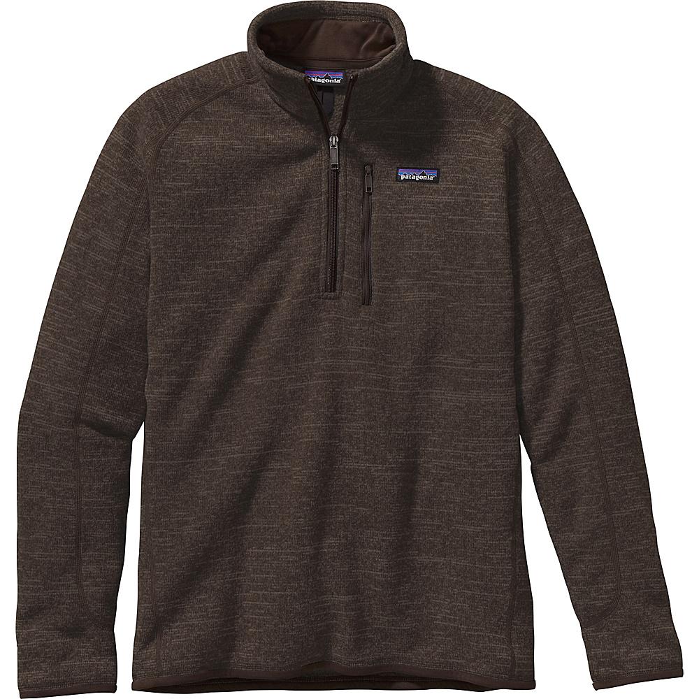 Patagonia Mens Better Sweater 1/4 Zip L - Dark Walnut - Patagonia Mens Apparel - Apparel & Footwear, Men's Apparel