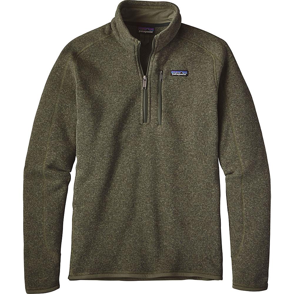 Patagonia Mens Better Sweater 1/4 Zip XS - Industrial Green - Patagonia Mens Apparel - Apparel & Footwear, Men's Apparel