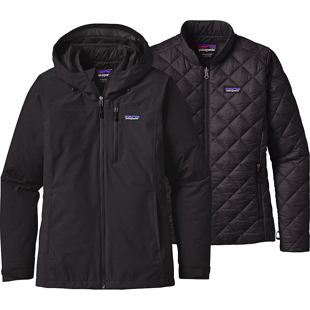 Patagonia Womens Windsweep 3-in-1 Jacket L - Black - Patagonia Womens Apparel - Apparel & Footwear, Women's Apparel