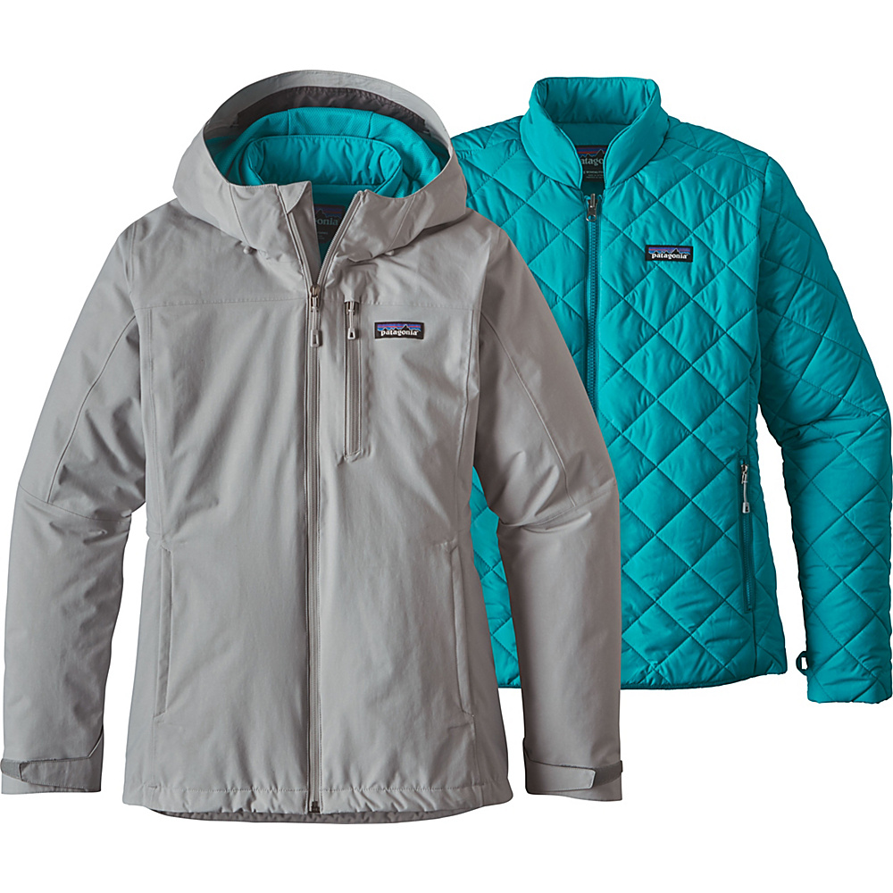 Patagonia Womens Windsweep 3-in-1 Jacket S - Drifter Grey - Patagonia Womens Apparel - Apparel & Footwear, Women's Apparel