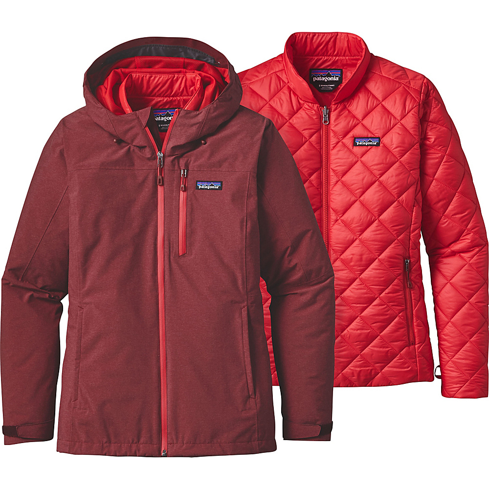 Patagonia Womens Windsweep 3-in-1 Jacket L - Drumfire Red - Patagonia Womens Apparel - Apparel & Footwear, Women's Apparel