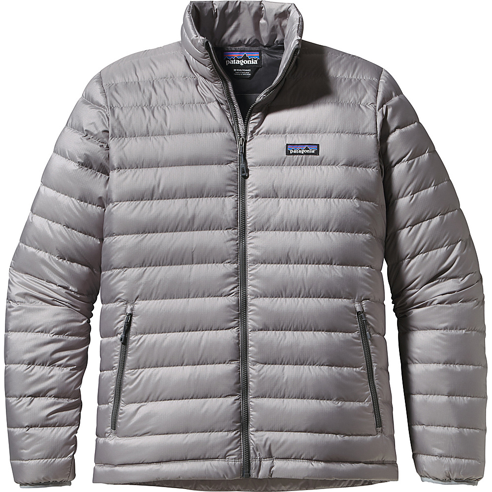 Patagonia Mens Down Jacket S - Feather Grey with Forge Grey - Patagonia Mens Apparel - Apparel & Footwear, Men's Apparel