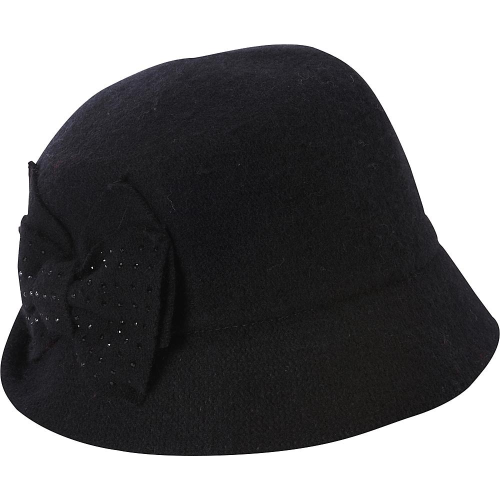 Betmar New York Betty Cloche Black - Betmar New York Hats/Gloves/Scarves