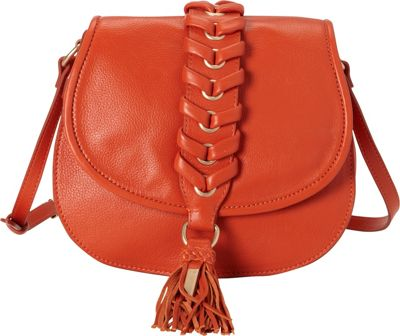 Foley + Corinna La Trenza Saddle Bag Papaya - Foley + Corinna Designer Handbags