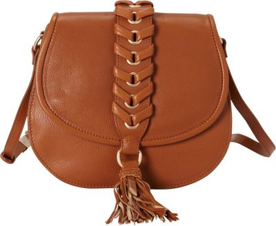 Foley + Corinna Foley + Corinna La Trenza Saddle Bag Honey Brown - Foley + Corinna Designer Handbags