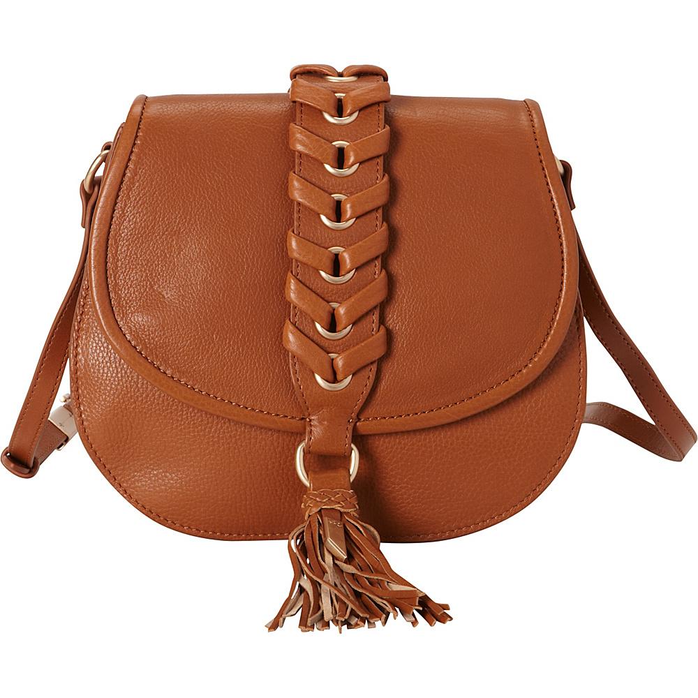Foley Corinna La Trenza Saddle Bag Honey Brown Foley Corinna Designer Handbags