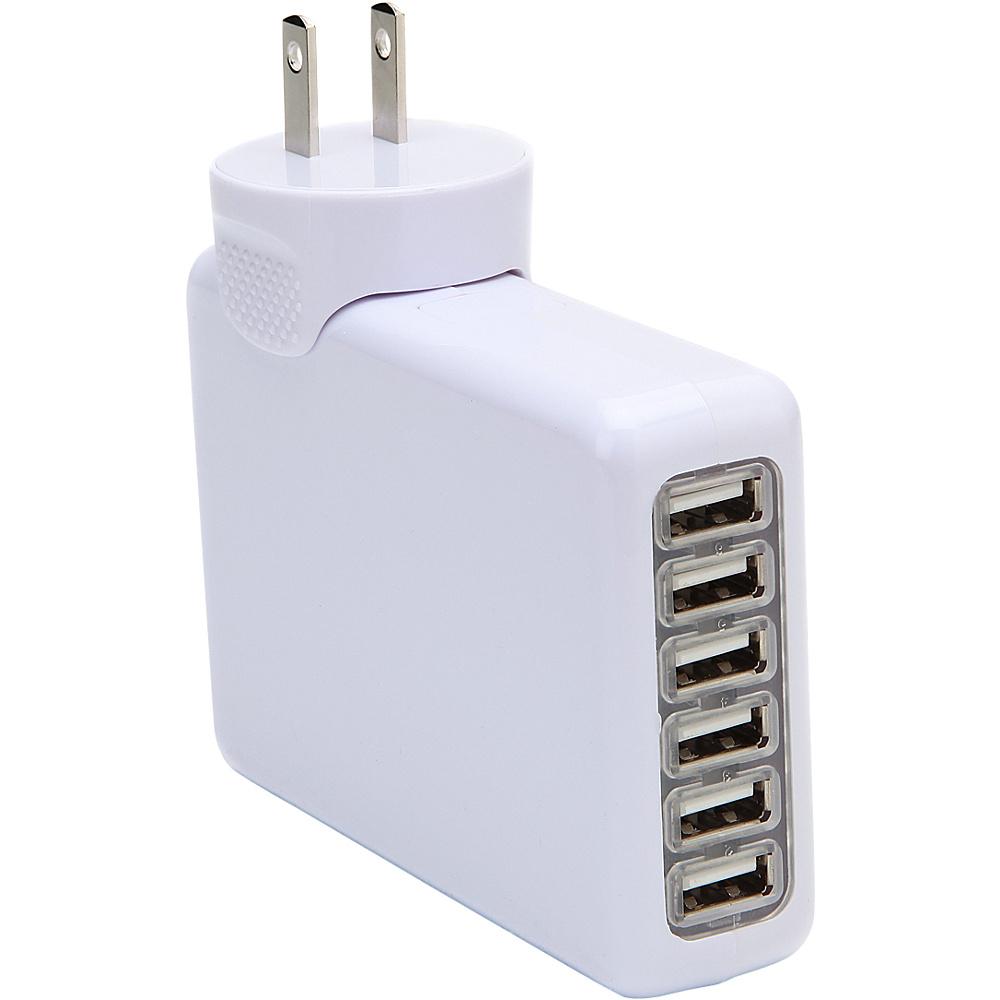 Koolulu 6 Port USB Wall Charger White Koolulu Portable Batteries Chargers
