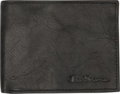 Ben Sherman Luggage Manchester Collection Leather Passcase Bi-Fold Wallet Black - Ben Sherman Luggage Men's Wallets