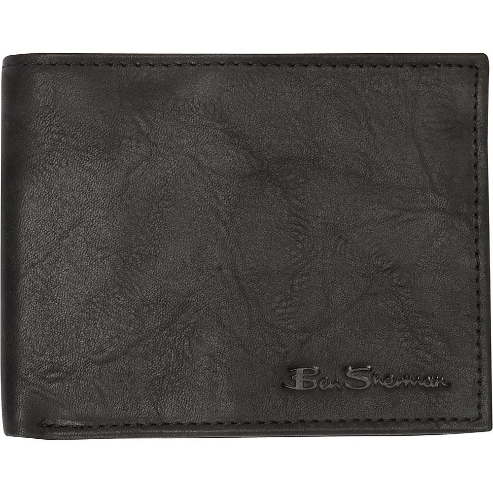 Ben Sherman Luggage Manchester Collection Leather Passcase Bi Fold Wallet Black Ben Sherman Luggage Men s Wallets