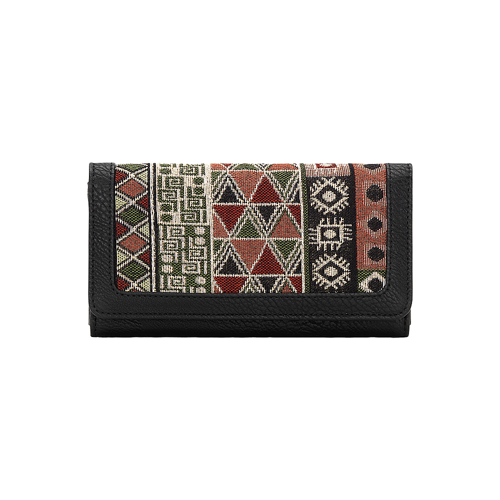 Bandana Tulum Flap Wallet Black Multi Bandana Women s Wallets