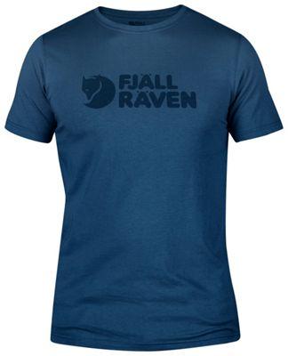 Fjallraven Logo T-Shirt L - Uncle Blue - Fjallraven Men's Apparel