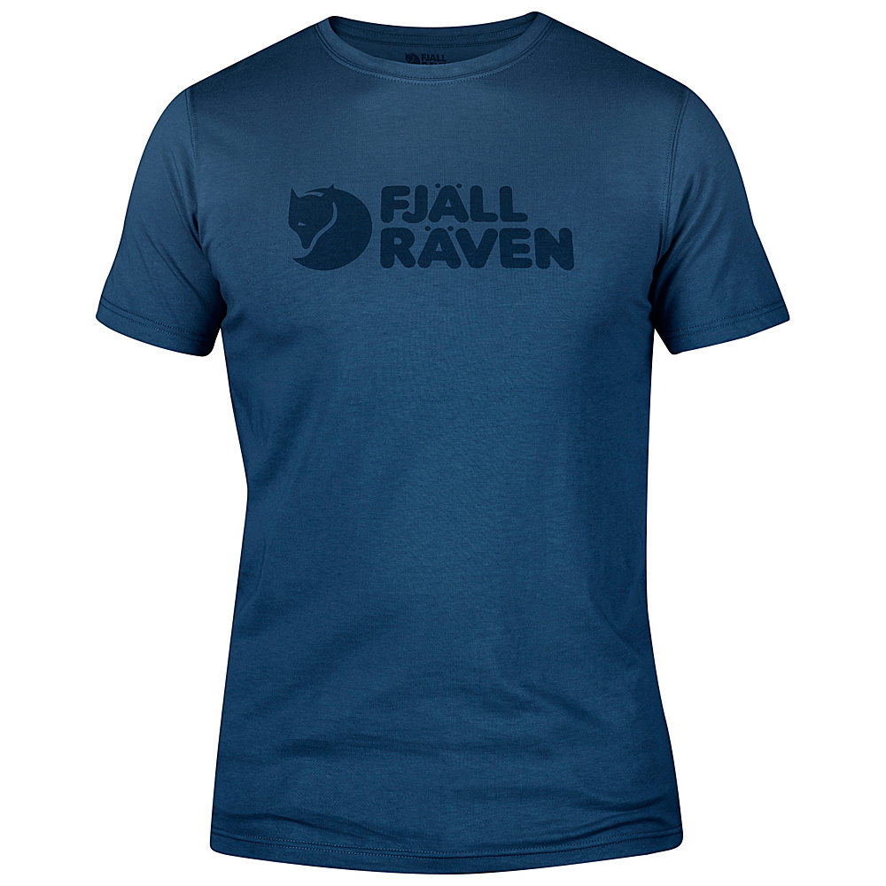 Fjallraven Logo T-Shirt L - Uncle Blue - Fjallraven Mens Apparel - Apparel & Footwear, Men's Apparel