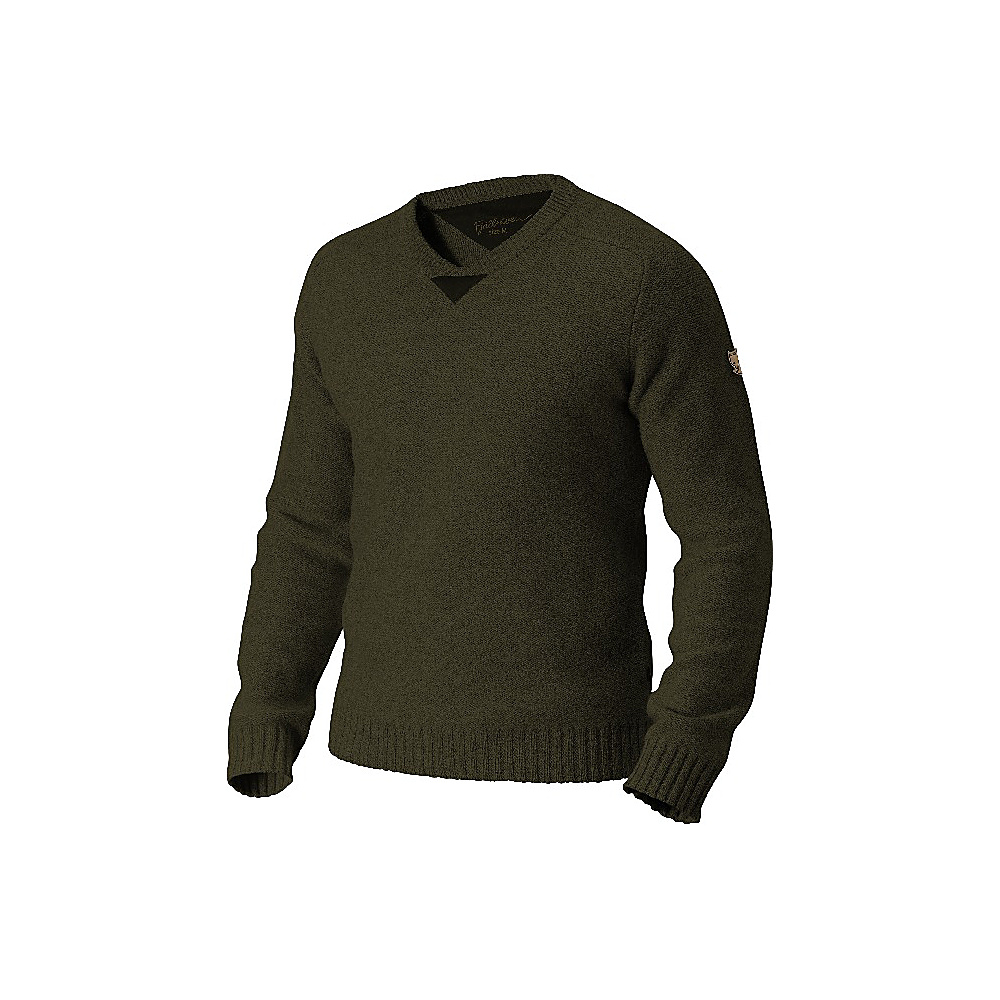 Fjallraven Woods Sweater L - Dark Olive - Fjallraven Womens Apparel - Apparel & Footwear, Women's Apparel