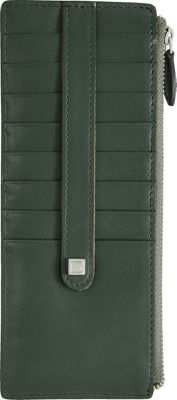 Lodis Amy Credit Card Case with Zipper Spruce - Lodis Women's Wallets