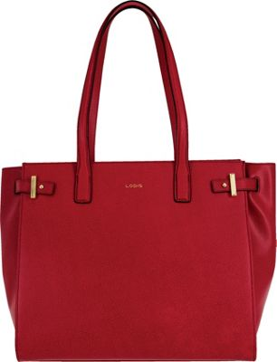 Lodis Stephanie Under Lock and Key Jem Multi Function Tote Red - Lodis Leather Handbags