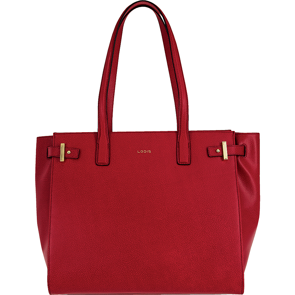 Lodis Stephanie Under Lock and Key Jem Multi Function Tote Red - Lodis Leather Handbags - Handbags, Leather Handbags