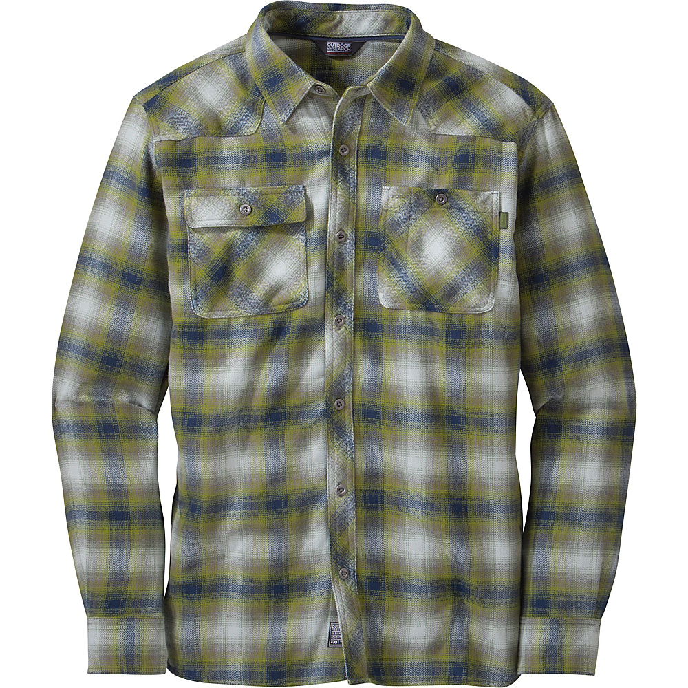 Outdoor Research Feedback Flannel S - Night/Hops - Outdoor Research Mens Apparel - Apparel & Footwear, Men's Apparel